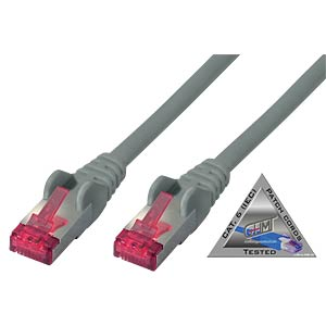 Patchkabel Cat.6A grau 10m SHIVERPEAKS BS75720-A