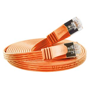 Cat.6 SLIM-Patchkabel, STP(PIMF), 25 m, orange SLIM PKW-STP-SLIM-KAT6 25.0 OR
