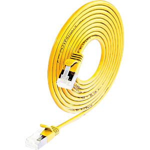 Cat.6a SLIM lightkabel, U/FTP, 0,25 m, geel SLIM PKW-LIGHT-STP-K6A 0.25 GE