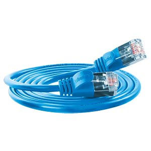 Cat.6 SLIM-Light-Kabel, F/FTP, 0,5 m, blau SLIM PKW-LIGHT-STP-K6 0.5 BL