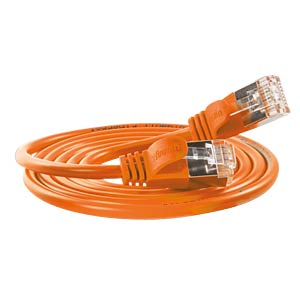 Cat.6 SLIM-Light-Kabel, F/FTP, 15 m, orange SLIM PKW-LIGHT-STP-K6 15.0 OR