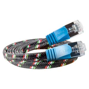 Cat.6 SLIM-Tough-Kabel, F/FTP, 1,0 m, blau SLIM PKW-TOUGH-STP-K6 1.0 BL