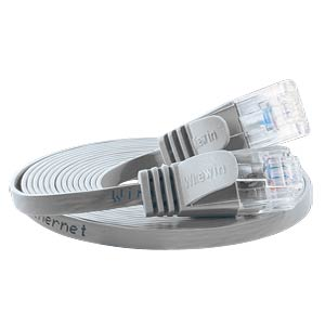 Cat.6 SLIM-Patchkabel, U/UTP, 0,5 m, grau SLIM PKW-SLIM-KAT6 0.5