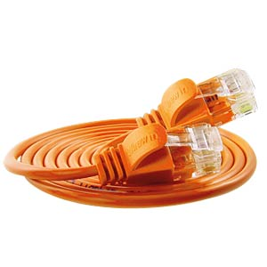Cat.6 SLIM-Light-Kabel, U/UTP, 5,0 m, orange SLIM PKW-LIGHT-K6 5.0 OR