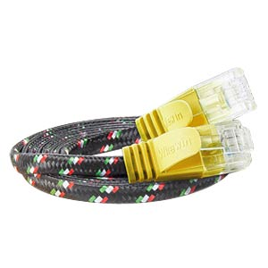 Cat.6 SLIM-Tough-Kabel, U/UTP, 0,25 m, gelb SLIM PKW-TOUGH-K6 0.25 GE
