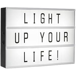 Vorschaubild von SW IOL-001-BW - Leuchtbox A4 mit 85 flexiblen Buchstaben