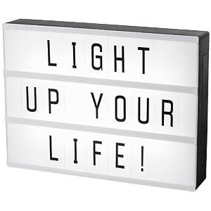 Leuchtbox A4 mit 85 Wechselbuchstaben SMARTWARES IOL-011_BW