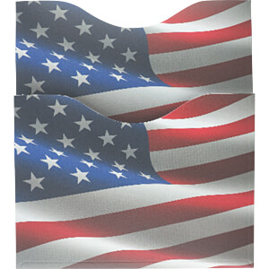 RFID Protection Sleeves, Passport US Flag SOOMZ.IO RS P USA