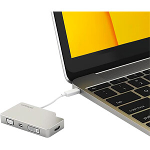 USB C 4K Multiport Adapter mit VGA, DVI, HDMI, mDP STARTECH.COM CDPVGDVHDMDP