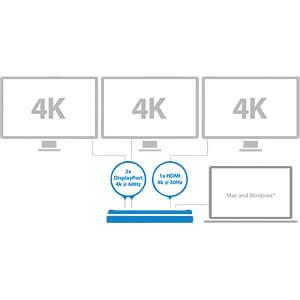 USB-C Dockingstation 4K STARTECH.COM DK30CH2DPPDU