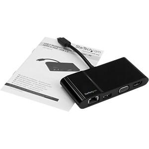 USB 3.0 C Multiport Adapter, HDMI / VGA / RJ45 /USB 3.0 A STARTECH.COM DKT30CHV