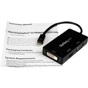 DisplayPort Adapter, mini DP auf VGA /HDMI / DVI STARTECH.COM MDP2VGDVHD