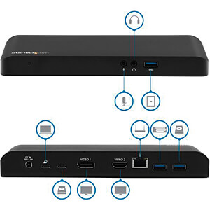 Dockingstation USB 3.0 Type-C, 4K, notebook STARTECH.COM MST30C2DPPD