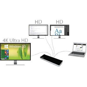 Dockingstation/Port Replicator, USB 3.0, Laptop STARTECH.COM USB3DOCKH2DP