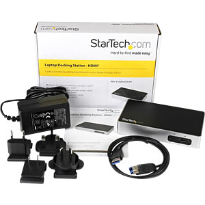 Dockingstation/Port Replicator, USB 3.0, Laptop STARTECH.COM USB3VDOCKH