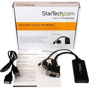 Adapter, VGA Stecker mit Audio auf HDMI Buchse/ USB A Stecker STARTECH.COM VGA2HDU