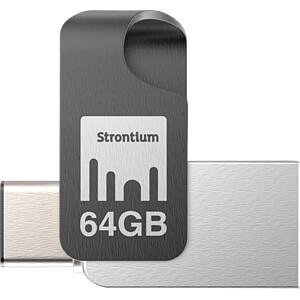 USB Stick, USB 3.1, 64 GB, Nitro Plus OTG STRONTIUM SR64GSLOTGCY