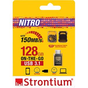 USB Stick, USB 3.1, 128 GB, Nitro OTG STRONTIUM SR128GBBOTG2Y