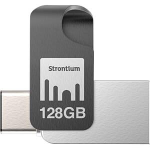 USB-stick, USB 3.1, 128 GB, Nitro Plus OTG STRONTIUM SR128GSLOTGCY