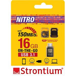 USB Stick, USB 3.1, 16 GB, Nitro OTG STRONTIUM SR16GBBOTG2Y