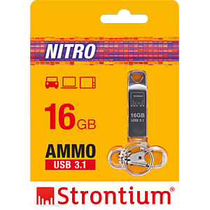 USB Stick, USB 3.1, 16 GB, Nitro Ammo STRONTIUM SR16GSLAMMOY