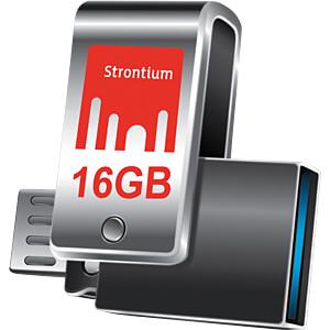 USB Stick, USB 3.0, 16 GB, NITRO PLUS OTG STRONTIUM SR16GSLOTG1Z