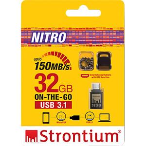 USB Stick, USB 3.1, 32 GB, Nitro OTG STRONTIUM SR32GBBOTG2Y