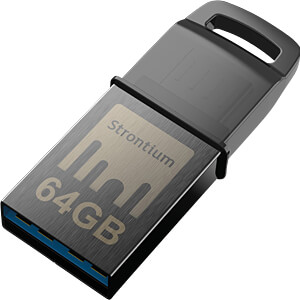 USB Stick, USB 3.1, 64 GB, Nitro OTG STRONTIUM SR64GBBOTG2Y