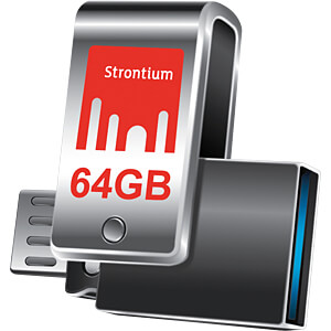 USB Stick, USB 3.0, 64 GB, NITRO PLUS OTG STRONTIUM SR64GSLOTG1Z
