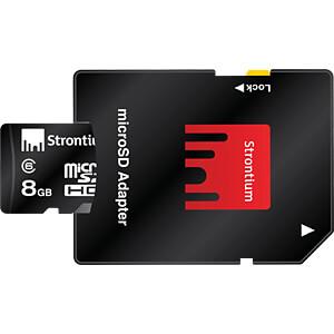 MicroSDHC-Speicherkarte 8 GB, Strontium mit Adapter STRONTIUM SR8GTFC6A