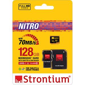 MicroSDXC-Speicherkarte 128GB, Strontium Class 10 mit Adapter STRONTIUM SRN128GTFU1C