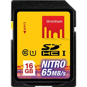 SDHC-geheugenkaart 16GB Strontium klasse 10 STRONTIUM SRN16GSDU1