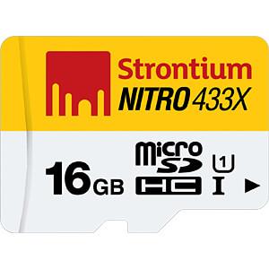 MicroSDHC-Speicherkarte 16GB, Strontium Class 10 mit Adapter STRONTIUM SRN16GTFU1C