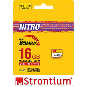 MicroSDHC-Speicherkarte 16GB, Strontium Class 10 STRONTIUM SRN16GTFU1R