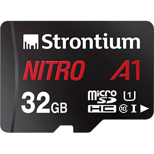 32-GB MicroSDHC memory card, Strontium with adapter STRONTIUM SRN32GTFU1A1A