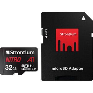 MicroSDHC-Speicherkarte 32 GB, Strontium mit Adapter STRONTIUM SRN32GTFU1A1A