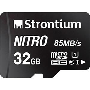 MicroSDHC-geheugenkaart 32 GB, Strontium Klasse 10 met adapter STRONTIUM SRN32GTFU1QA