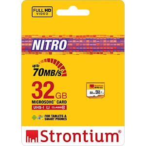 MicroSDHC-Speicherkarte 32GB, Strontium Class 10 STRONTIUM SRN32GTFU1R
