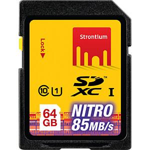 SDXC-Speicherkarte 64GB, Strontium Class 10 STRONTIUM SRN64GSDU1