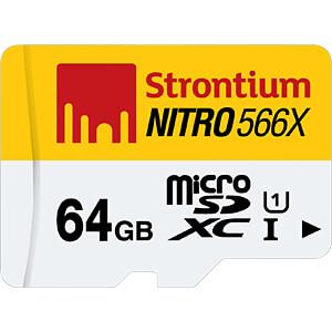 MicroSDXC-Speicherkarte 64GB, Strontium Class 10 mit Adapter STRONTIUM SRN64GTFU1C