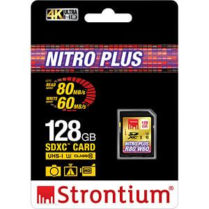 SDXC-Speicherkarte 128GB, Strontium Class 10 STRONTIUM SRP128GSDU1