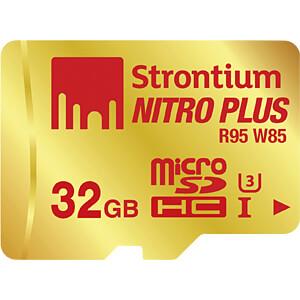 MicroSDHC-Speicherkarte 32 GB, Strontium mit Card-& USB-Adapter STRONTIUM SRP32GTFU1C