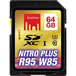 SDXC-Speicherkarte 64GB, Strontium Class 10 STRONTIUM SRP64GSDU1