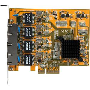 Netzwerkkarte, PCI Express x4, Gigabit Ethernet, 4 x RJ45 STARTECH.COM ST1000SPEX43