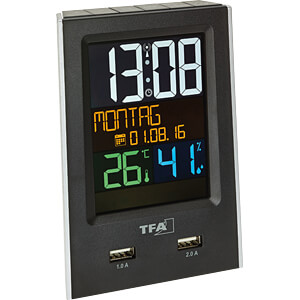TFA 60253701 - Funkwecker mit USB-Ladefunktion