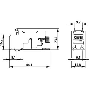 AMJ-S Modul Kat. 6A T568A , 2 Stück TELEGÄRTNER J00029A2000