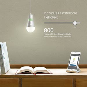 Smart Light, Lampe, E27, 10W, Warmweiß, EEK A+, WLAN TP-LINK LB110