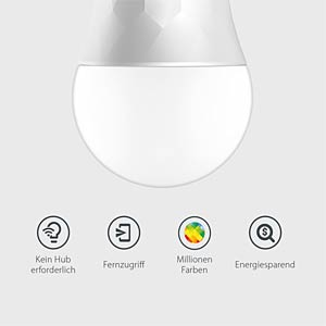 Smart Light, Lampe, E27, 11W, RGBW, EEK A+, WLAN TP-LINK LB130