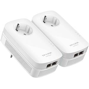 1000 MBit/s Powerline Frontsteckdose Kit (2Ada.) TP-LINK TL-PA7020P KIT