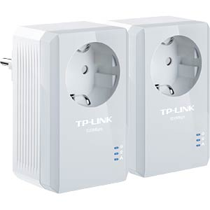 500 Mbit/s Powerline LAN kit (2 pcs), front outlet TP-LINK TL-PA4010PKIT